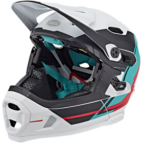 Bell Super DH MIPS MTB Helmet white/emerald/hibiscs
